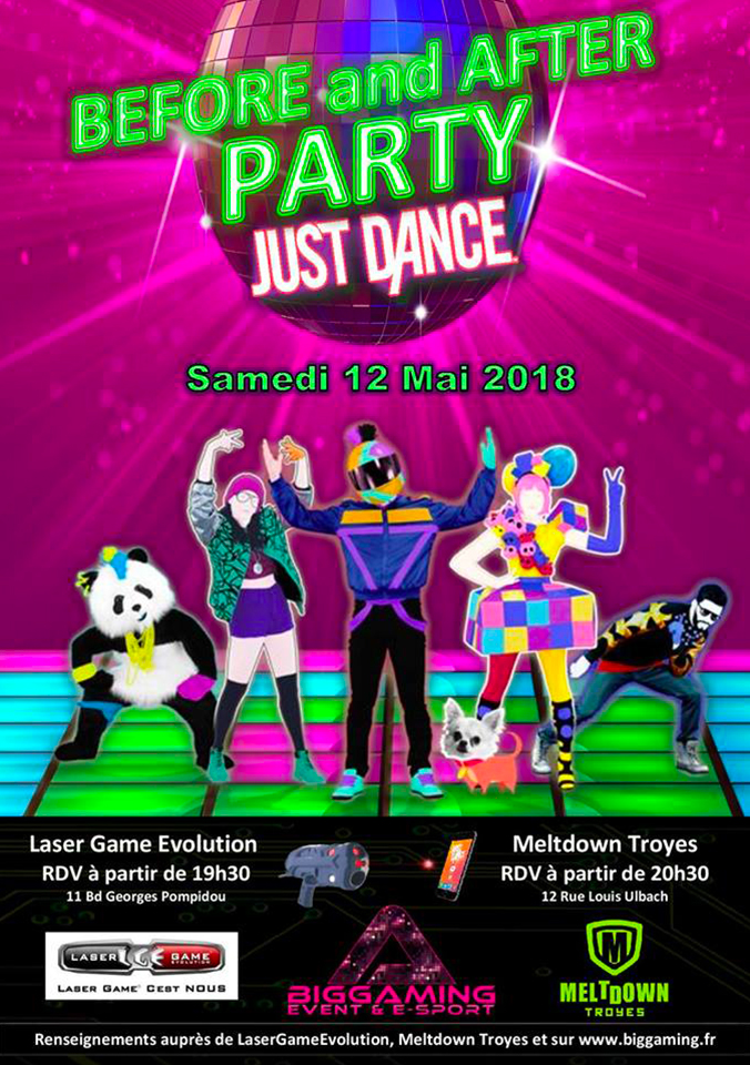 JUST DANCE LASER GAME & MELTDOWN